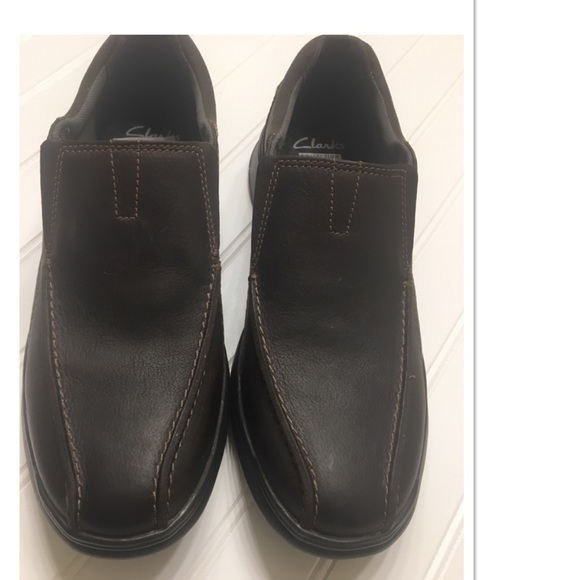 Clarks Mens Cotrell Step Leather Shoes, New!